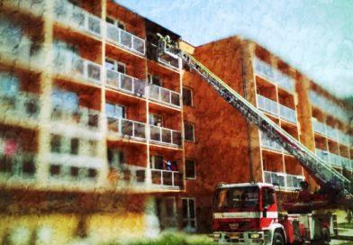 Požár výškové budovy 18. 2. 2021