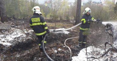 11. 4. 2019 Požár trávy Blansko